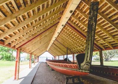 Waka- canoe de guerre maori