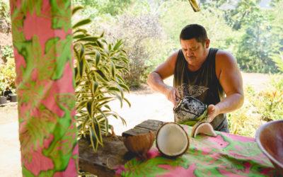 Partage autour des mets marquisiens: le Ka'aku